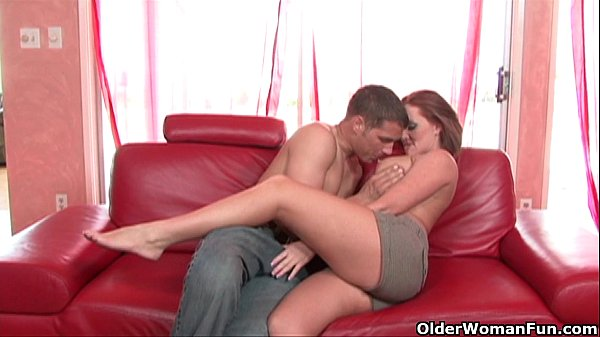 Busty soccer milf gets fucked and creamed